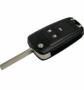 Ключ заготовка ключа Chevrolet Cruze. 3 кнопки