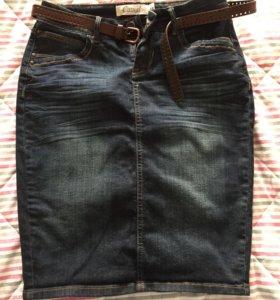 Юбка джинсовая новая 44 р S