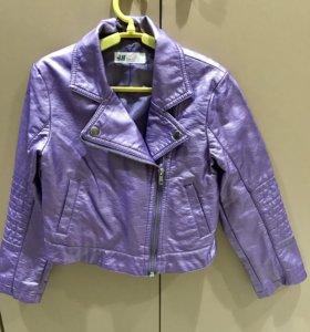 Куртка экокожа HM р 7-8 л