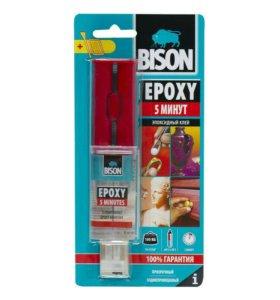 Эпоксидный двухкомпонентный клей Bison epoxy 5 min
