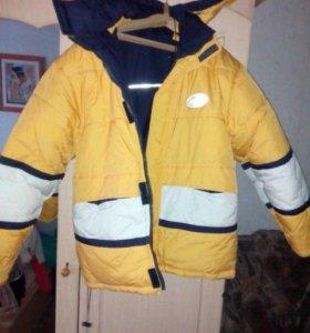 куртка двусторонняя подростковая 42-44р