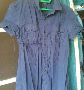 Рубашка Oodji с коротким рукавом