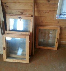 Окна деревянные со стеклами 45 шт