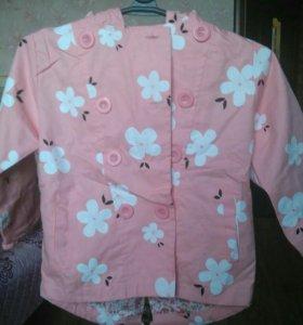 Курточка новая детская, р.110см