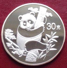 Китай 30 юань 1987г - панда