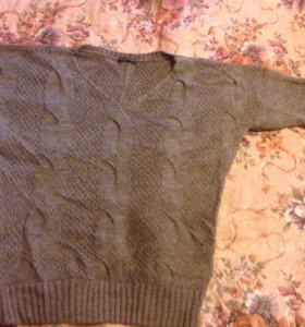 Вязаный тёплый пуловер/свитер