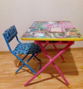 Столик детский со стулом