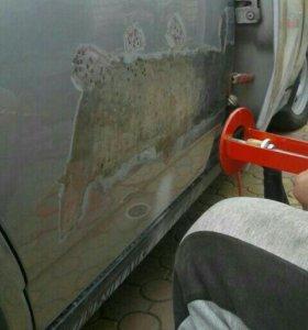 Удаление вмятин кузова автомобиля Споттером