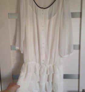 Туника Sisley и футболка -блуза
