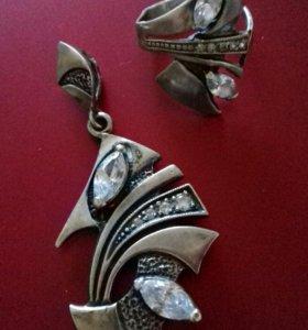 Комплект: серебро и фианиты