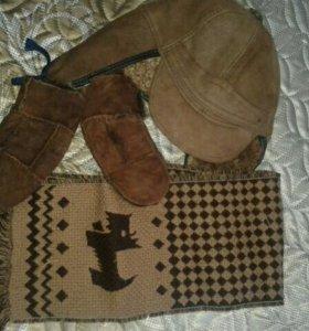 шапка варежки и шарф