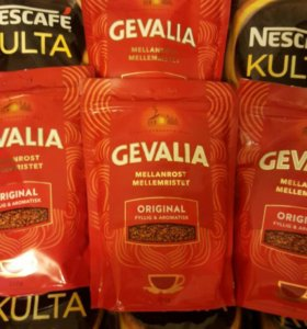 Кофе растворимый Gevalia Mellanrost, Nescafe Kulta