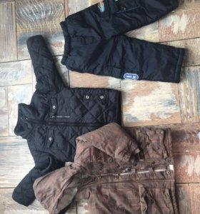 Тёплая куртка и брюки для мальчика