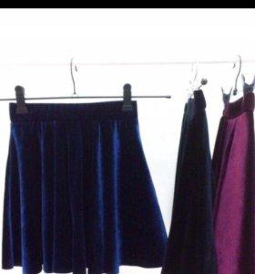 Новые бархатные юбки
