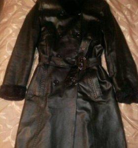 Пальто(натуральная кожа)