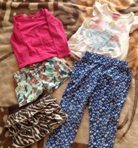 Одежда на девочку 3-4г (пакетом)