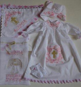 Именные крестильные комплекты для девочек