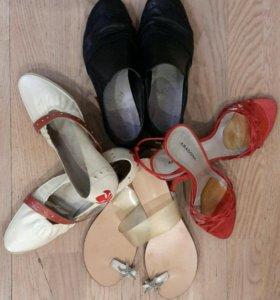 39 размер Обувь Б/У 4 пары