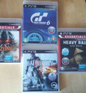 PS 3 Heavy rain, Battlefield 4, Killzone 3, GT 6