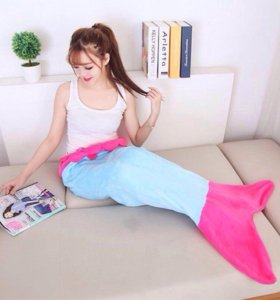 Одеяло-плед. Хвост русалки