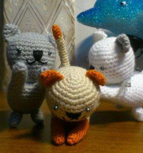 Вязаные игрушки Котята