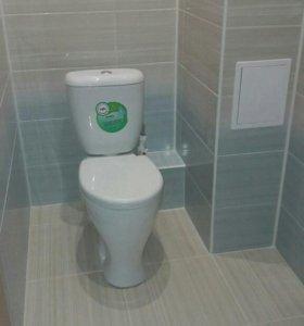 Ремонт ванной + натяжной потолок!!!
