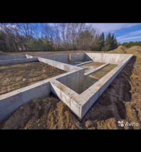 Фундаменты, бетонные фундаментные работы под ключ