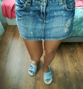 Юбка-мини джинсовая