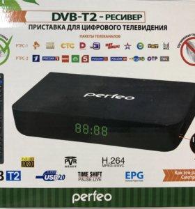 Цифровая приставка DVD-T2 perfeo 148-1 новая