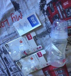 НОВАЯ бутылочка + 2 соски