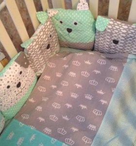 Комплект в кроватку Котики и Собачки