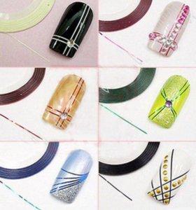 Цветная лента для дизайна ногтей