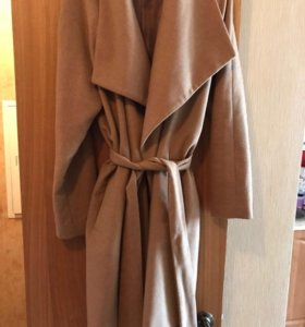 замша кожа драповое пальто