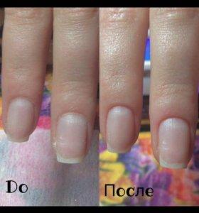 Гель лак +чистка ногтей