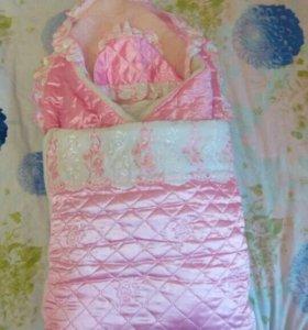 Конверт-одеяло на выписку из роддома.