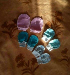 Царапки для самых маленьких, рукавички