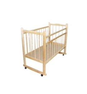 Кроватка, матрас, постельный комплект