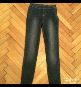 Серые джинсы стрейч на 146 рост