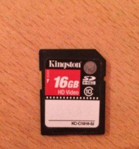 Карта памяти на 16GB