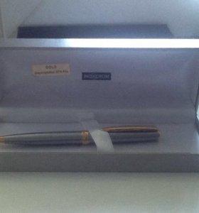 Новая с позолотой шариковая ручка