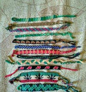 Плетеные фенечки мулине/ирис