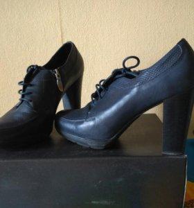 Туфли темно- синие