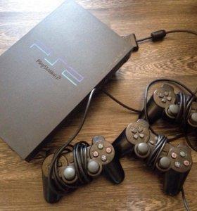 PlayStation 2 + 3 джойстика