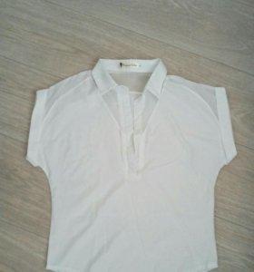 Укороченная блузка цвета айвори