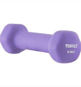 Гантель Torres 0,5 кг в неопрене