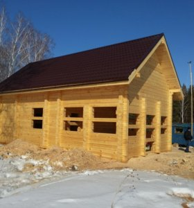 Строительство бань домов с бруса.