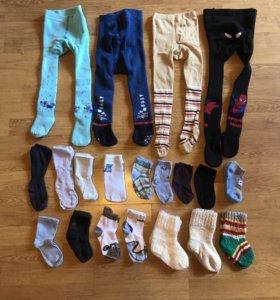 Колготки/носочки на мальчика от 6 мес до 2х лет