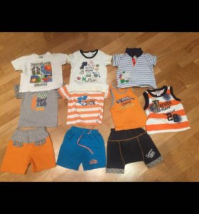 Комплекты летние шорты+футболка
