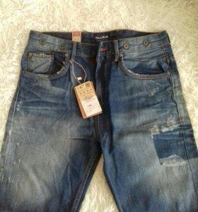 Новые мужские джинсовые шорты pull&bear