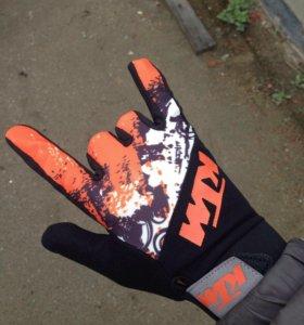 Мото перчатки КТМ летние, новые